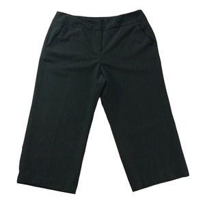 Sandro Pants sz 16 Black Wide Leg Capris